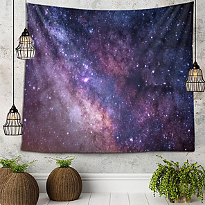 cheap Wallpaper-Starry Sky Tapestry Wall Hanging Tapestries Wall Blanket Wall Art Wall Decor Landscape Painting Tapestry Wall Decor