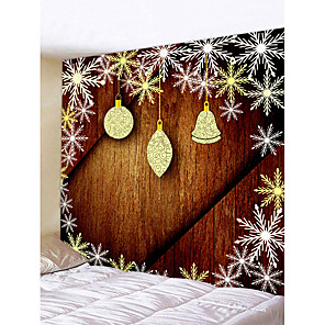 cheap Animal Paintings-Christmas Weihnachten Santa Claus Wall Tapestry Art Decor Blanket Curtain Picnic Tablecloth Hanging Home Bedroom Living Room Dorm Decoration Snowflake Snow Bell Polyester