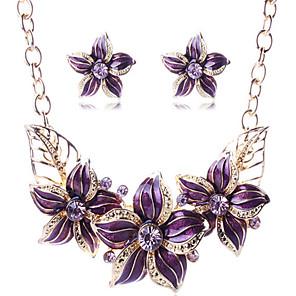 cheap Jewelry Sets-Women's Jewelry Set Geometrical Flower Stylish Earrings Jewelry Purple For Gift Street Festival 1 set