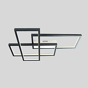 cheap Flush Mounts & Semi Flush Mounts-1-Light LED40W Geometric Modern Flush Mount Lights/ Ceiling Lights Wall Sconces Painted Finishes Alnminum for Living Room Show Room Office Room/ Warm White/ White/ Dimmable with Remote Control/ WIFI S
