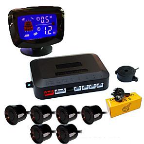 billige Lydanlæg til bilen-a65k bil autokøretøj backback radarsystem med 6 parkeringssensorer afstanddetektion lcd afstand display lyd advarsel brummer