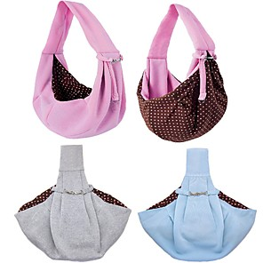 cheap Dog Clothes-Dog Shoulder Messenger Bag Dog Backpack Portable Washable Durable Polka Dot Nylon Baby Pet puppy Outdoor Blue Pink Gray