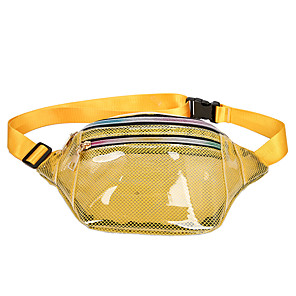 cheap Camping Tools, Carabiners & Ropes-3 L Hiking Waist Bag Rain Waterproof Outdoor Camping Plastic & Metal White Black Yellow