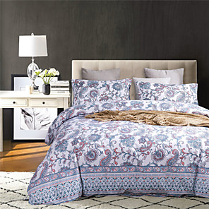 cheap Wallpaper-Decorative Pattern Print 3-Piece Duvet Cover Set Hotel Bedding Sets Comforter Cover with Soft Lightweight Microfiber(Include 1 Duvet Cover and 1 or 2 Pillowcases)
