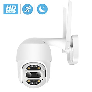cheap Outdoor IP Network Cameras-HD 1080P PTZ IP Camera Wifi Outdoor Auto Tracking 2MP CCTV Security Camera 4X Optical Zoom Alarm Dome Wireless Camera IP SD Card