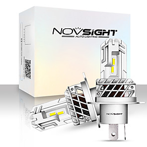 cheap Car Headlights-NOVSIGHT 2pcs A500-N35 For H4 Car Light Bulbs 40 W 7000 lm LED Headlamps For universal General Motors All years With Set Up video