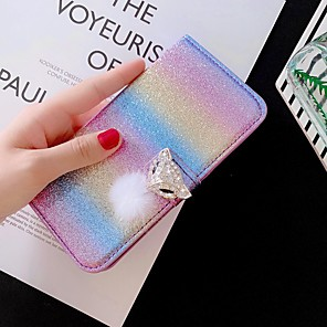 cheap Samsung Case-Case For Samsung Galaxy S20 Ultra S20 Plus S10 Plus Wallet Card Holder with Stand Glitter Shine Lace Fox PU Leather Case For Samsung S9 Plus  S8 Plus S7 Edge Note 10 Pro  A51 A71