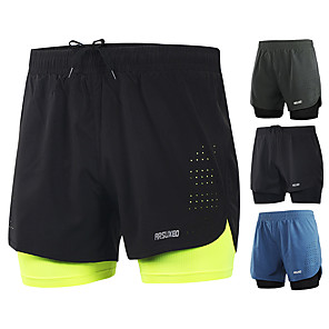 cheap Running & Jogging Clothing-Arsuxeo Men's Running Shorts Training Bottoms 2 in 1 Liner Split Spandex Gym Workout Marathon Basketball Football / Soccer Running Active Training Lightweight Quick Dry Reflective Strips Plus Size