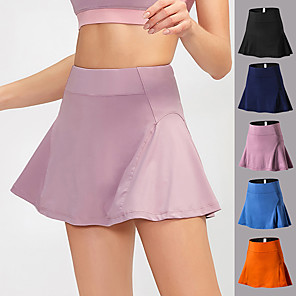 cheap Running & Jogging Clothing-YUERLIAN Women's High Waist Athletic Skort Running Skirt Athletic Bottoms Liner Spandex Fitness Gym Workout Performance Running Training Breathable Quick Dry Soft Sport Black Blushing Pink Blue