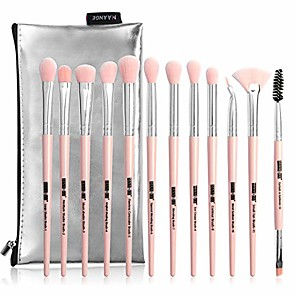cheap Makeup Brush Sets-eye makeup brushes 12pcs eyeshadow makeup brushes set with soft synthetic hair for eyeshadow, eyebrow, eyeliner, blending & #40;with carrying bag& #41;