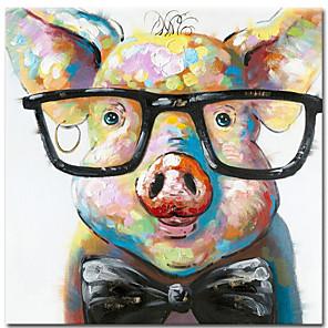 povoljno Slike sa životinjskim motivima-100% ručno oslikana platna slikarstvo apstraktnih slika životinjskog svinjskog ulja zidne slike za dnevni boravak cuadros dekor kuće