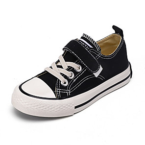 cheap Women's Flats-Boys' / Girls' Flats Vulcanized Shoes Canvas Little Kids(4-7ys) / Big Kids(7years +) Walking Shoes White / Black / Yellow Spring / Fall / Slogan