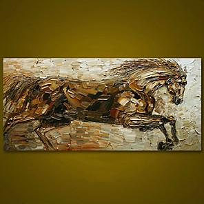 olcso Olajfestmények-keret nélküli futó ló kézzel festett olajfestmény nagy modern fal art art vászon festmény vintage lakberendezési grafika