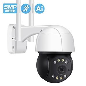 cheap Outdoor IP Network Cameras-H.265 5MP PTZ Wifi IP Cmara al aire libre ia humano Auto seguimiento inalmbrico Cmara ONVIF Audio 2MP 3MP luz inteligente seguridad CCTV Cmara