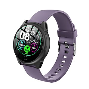 cheap Smartwatches-Round-screen Bluetooth Fitness Tracker with TPU-strap, IP67 Water-resistant Smartwatch for Android/ Iphone/ Samsung Phones