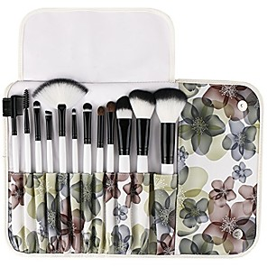 cheap Makeup Brush Sets-makeup brush premium 12 pieces makeup brushes set foundation powder contour concealer blending eyeshadow professional bursh set with floral case