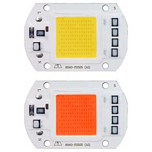 cheap 3D Night Lights-LED COB Chip LED Light 110V 220V 20W 30W 50W  Warm White White Full Spectrum Smart IC No Need Driver SMD Light Beads FOR Floodlight Spotlight Outdoor Lamp DIY Lighting 1pc