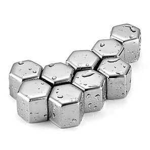 cheap Fruit & Vegetable Tools-New Whisky Stones Ice Cubes Set Reusable Food Grade 304 Stainless Steel Wine Cooling Cube Chilling Rock Party Bar Tool
