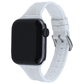 cheap Smartwatch Bands-Watch Band for Apple Watch Series 6 SE 5 4 3 2 1 Apple Leather Loop Quilted PU Leather Wrist Strap