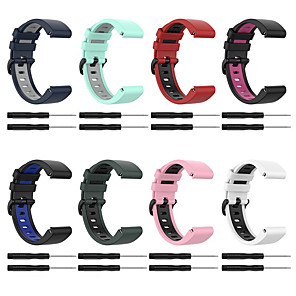 cheap Smartwatch Bands-Watch Band for Approach S60 / Fenix 5 / Fenix 5 Plus Garmin Sport Band / Classic Buckle Silicone Wrist Strap