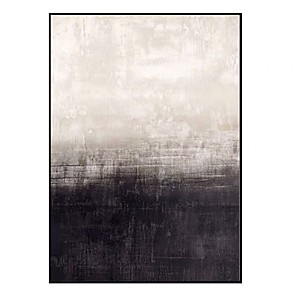 cheap Abstract Paintings-100% Hand Painted Abstract Canvas Oil painting Modern Canvas Art Wall Art Pictures for Living Room Home Decor Nordic Black White Painting Rolled Without Frame