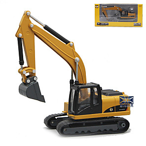 cheap Toy Trucks & Construction Vehicles-1:50 Rubber Metal ABS Excavator Toy Truck Construction Vehicle Funny Excavating Machinery for intellectual development for interest development Boys' Girls' Kid's Car Toys