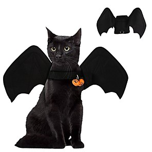 cheap Dog Clothes-Dog Cat Costume Classic Bat Party Cool Dog Clothes Black Orange Costume Fabric S M L