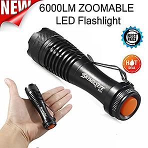 povoljno Baterijske svjetiljke-mini LED svjetiljka, super svijetla 2000 lumena zumljiva q5 aa / 14500 3 načina rada svjetiljka svjetiljka za svjetiljku na otvorenom& # 40 A& # 41;