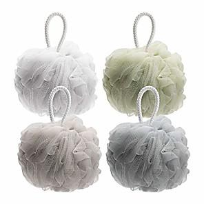 cheap Bath Body Care-shower bath sponge 75g/pcs shower loofahs balls for body wash men women bathroom-4 pack & #40;neutral colors& #41;