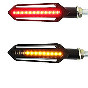 저렴한 오토바이 조명-2pcs 오토바이 방향 지시등 테일 라이트 led 흐르는 물 깜박이는 깜박이 브레이크 / 러닝 라이트 drl flasher 테일 램프 for honda