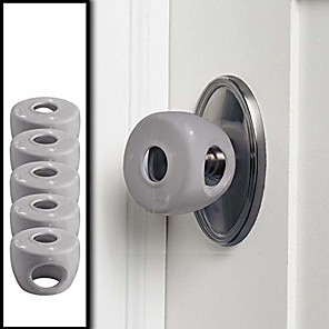 Χαμηλού Κόστους Φροντίδα μωρού-γκρι - κάλυμμα ασφαλείας μωρού πόρτας - 5 πακέτα - αποτρέψτε τα μικρά παιδιά από το άνοιγμα των θυρών με κλειδαριά πόρτας ασφαλείας για παιδιά - μέγεθος ελέγχου - driddle
