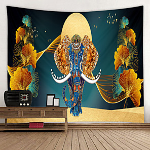 cheap Wall Tapestries-Noble and Beautiful Elephant Digital Printed Tapestry Decor Wall Art Tablecloths Bedspread Picnic Blanket Beach Throw Tapestries Colorful Bedroom Hall Dorm Living Room Hanging