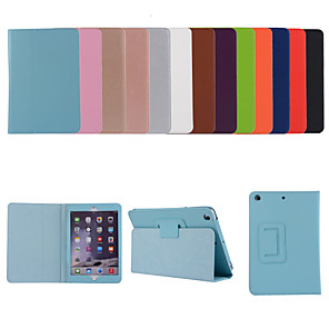 cheap iPad case-Case For Apple iPad Air iPad Air 2 Ipad air3 10.5 2019 2 3 4 ipad pro 10.5inch  10.2inch with Stand Flip Full Body Cases Solid Colored PU Leather TPU Protective Stand Cover