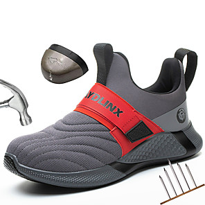 cheap Burglar Alarm Systems-Safety protective Shoes Men Summer Breathable Boots Working Steel Toe Anti Construction Work Sneakers Work comfort Boots