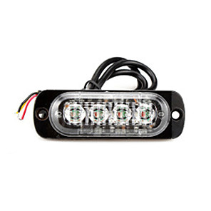 cheap Car DVR-Ultra-thin Strobe Light Car Motorcycle Truck Emergency Side Marker Warning Lamp Police 4LED Flasher Car Lights Assembly