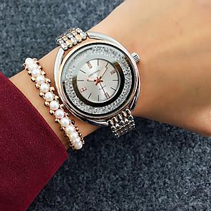 baratos Relógios de Pulseira-Mulheres Relógios de Quartzo Quartzo Fashion Fashion Adorável Prata Analógico - Rosa Dourado Branco + Golden Branco + Ouro Um ano Ciclo de Vida da Bateria