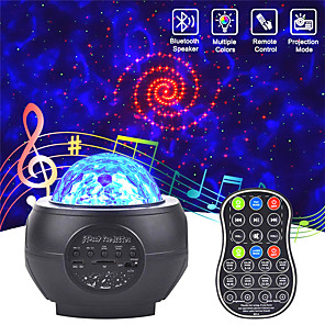 cheap Projectors-Led Starry Sky Projector Usb Speakers Night Light Romantic Colorful Starry Sky Projection Lamp With Remote Control Party Lamp