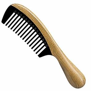 お買い得  インフレータブルポンプ-余分な長さのハンドメイド100%ナチュラルグリーンサンダルウッド、バッファローホーンの細かい歯の櫛-帯電防止サンダルウッドの香りナチュラルヘアディタングラー木製コーム(バッファローホーンワイド歯)