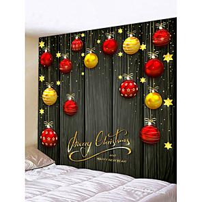 billiga Djurporträttmålningar-jul guldröd chanbelier femspetsig stjärna digitaltryck tapet klassisk tema väggdekor 100% polyester modern väggkonst vägg tapeter dekoration