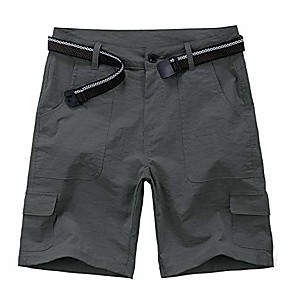 cheap Hiking Trousers & Shorts-women's outdoor hiking shorts, lightweight quick dry casual hiking cargo shorts with multi pockets, grey#133, 30(tag 12)