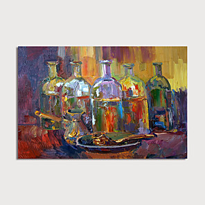 cheap Abstract Paintings-Hand-Painted Abstract Wines Painting Canvas Art  Painting Abstract Still Life Acrylic Painting Modern Art Textured Art  with Stretcher Ready to Hang With Stretched Frame