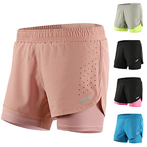 cheap Running & Jogging Clothing-Arsuxeo Women's Running Shorts Athletic Shorts Bottoms 2 in 1 Liner Mesh Elastane Fitness Gym Workout Running Active Training Breathable Quick Dry Reflective Strips Sport Black Blush Light Grey Royal