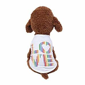 저렴한 강아지 의류-wakeu dog clothes for small dogs boy yorkies girl chihuahua summer fall-pet puppy shirt love vest apparel-cat clothing schnauzer female male costume