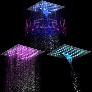 cheap Rain Shower-Contemporary Rain Shower Chrome Feature - LED / Shower / Rainfall, Shower Head