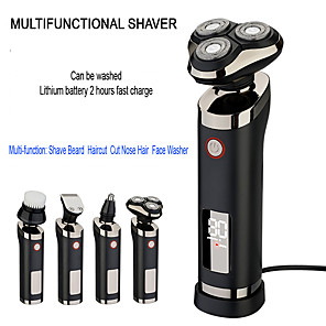 cheap Construction & Decoration-4 In1 Razor Electric Razor Shaver Beard Nose Trimmer Trimer Machine For Shaving Machine For Men Barbeador Rechargeable Waterproof