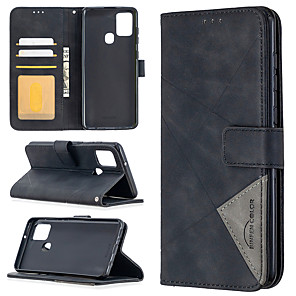 cheap Door Locks-Case For Samsung Galaxy Note 20 Ultra Note 20 A21S A81 Note 10 Lite A91 S10 Lite A01 A11 M11 A21 A31 A41 A51 A71 Card Holder Magnetic Full Body Cases Solid Colored PU Leather