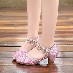 cheap Humidifiers-Girls' Sandals Flower Girl Shoes PU Sequins Little Kids(4-7ys) Walking Shoes Crystal Pink / Silver Summer