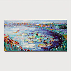cheap Art Crafts-Hand-Painted Abstract Landscape Paintings Canvas Art  Painting Abstract Acrylic Painting Modern Art Textured Art  with Stretcher Ready to Hang With Stretched Frame