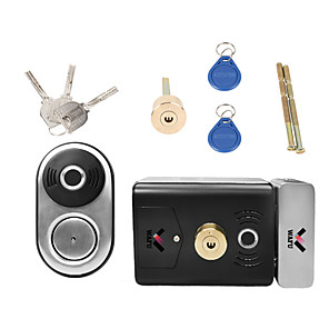 cheap Door Locks-WAFU Smart Double Fingerprint Lock Stainless Steel Electric Lock Door Entry Intelligent Lock Low Power Reminder Smart Home Villa Office Access Control Security System(WF-014B)