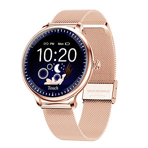 cheap Smartwatches-Y12 Stainless Steel Women Smartwatch for Android/ IOS/ Samsung Phones, Sports Fitness Tracker Support Physiological Period Remind/ Heart Rate/ Blood Pressure Measurement